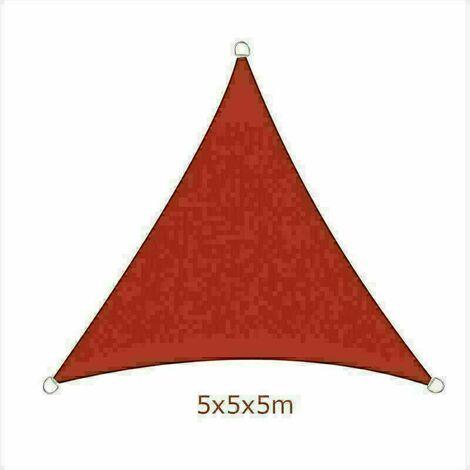 5x5x5m Sun Sail Shade Triangle Awning Canopy Garden Sun Patio Sunscreen - Terracotta