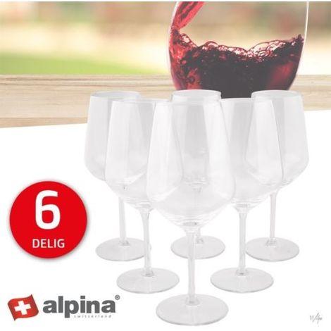 6 Bicchieri Bicchiere per Vino 53CL in Cristallo da Tavola Ristorante Bar Snack