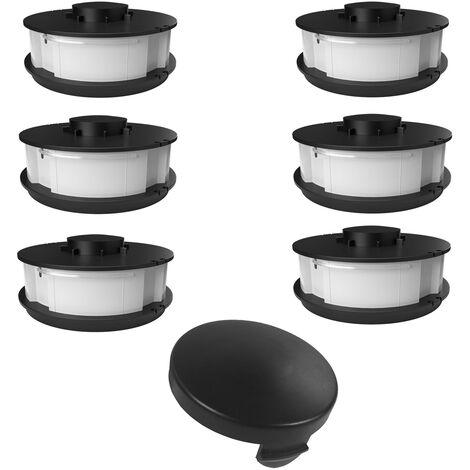 6 bobines + 1 couvercle de bobine pour tondeuse à gazon Gardenline EINHELL GLR GLT