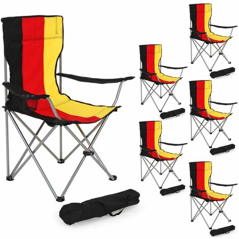 6 Camping chairs - folding chair, fold up chair, folding camping chair
