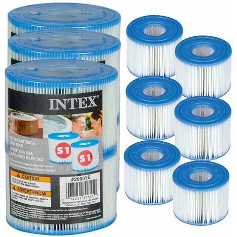 6 cartouches filtrantes s1 pour tous spa intex