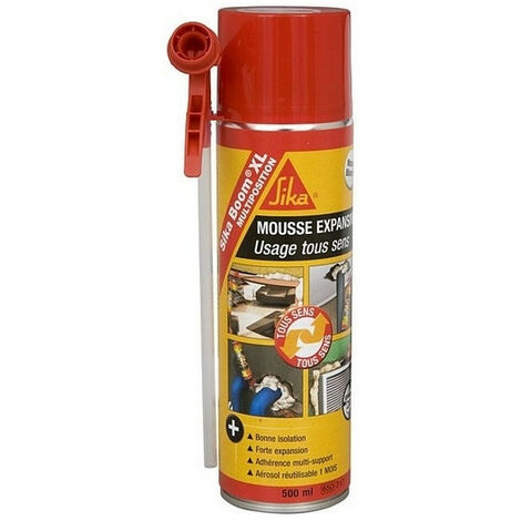 6 Cartouches Mousse expansive polyuréthane Boom XL multiposition 500 ml SIKA