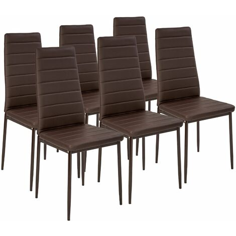 6 dining chairs synthetic leather - dining room chairs, kitchen chairs, dining table chairs