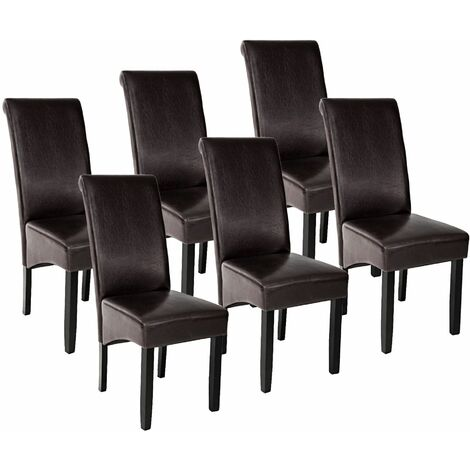 6 Dining chairs with ergonomic seat shape - dining room chairs, kitchen chairs, dining table chairs