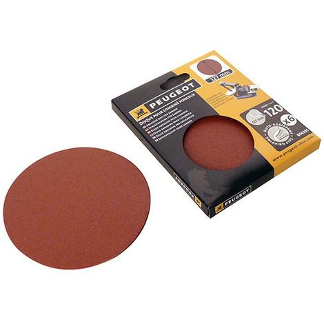6 disques abrasifs auto-agrippants D. 127mm - Grain 120 pour ENERGYSAND 25T - 806295 - Peugeot - -