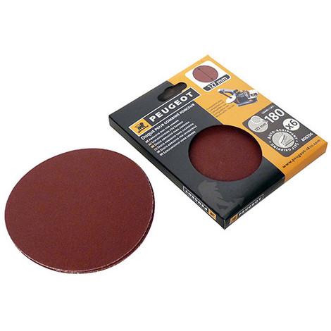 6 disques abrasifs auto-agrippants D. 127mm - Grain 180 pour ENERGYSAND 25T - 806296 - Peugeot - -