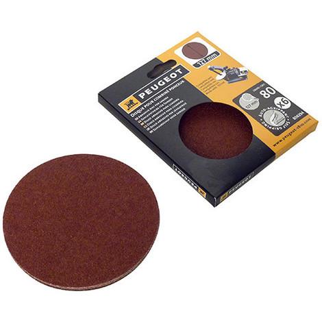 6 disques abrasifs auto-agrippants D. 127mm - Grain 80 pour ENERGYSAND 25T - 806294 - Peugeot - -