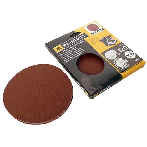 6 disques abrasifs auto-agrippants D. 150 mm - Grain 120 pour ENERGYSAND 150 - 806311 - Peugeot - -