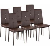 6 Esszimmerstühle, Kundstleder mit Glitzersteinen - Esszimmerstühle, Küchenstühle, Esszimmerstuhl