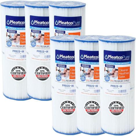 6 FILTRES PRB25-IN Cartouche de filtration piscine ou spa