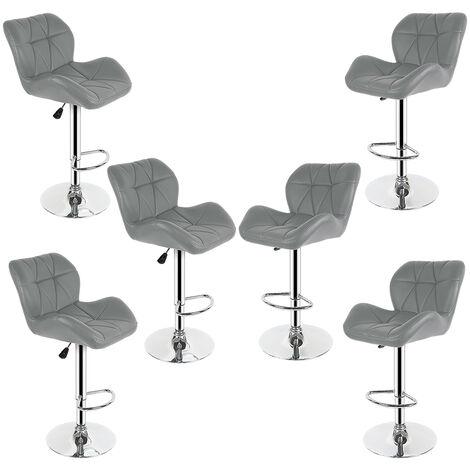 6 Gray European tank bar chair