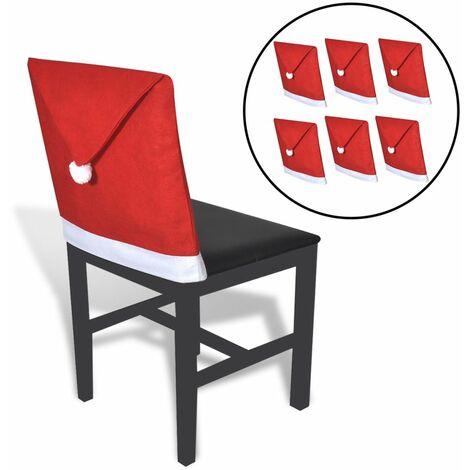6 Housses pour chaises en forme de pere noel