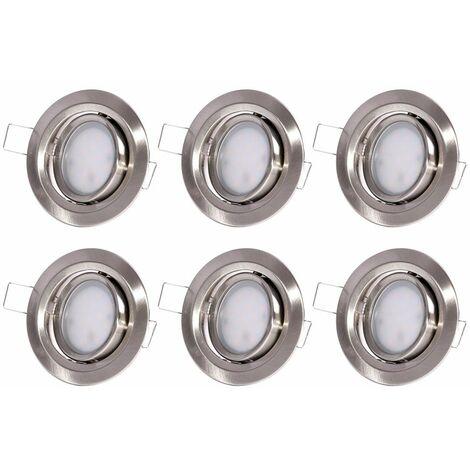 6 lámparas empotradas de techo LED focos focos baño cocina luces giratorias