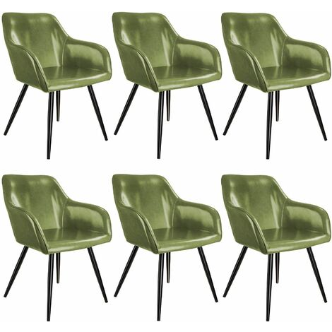 6 Marilyn Faux Leather Chairs