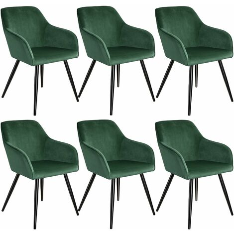 6 Marilyn Velvet-Look Chairs