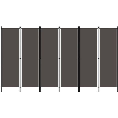 6-Panel Room Divider Anthracite 300x180 cm