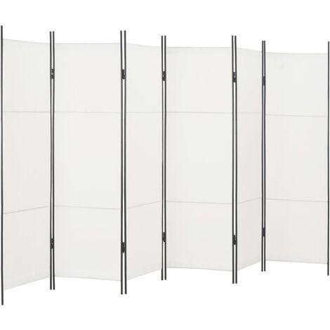 6-Panel Room Divider White 300x180 cm