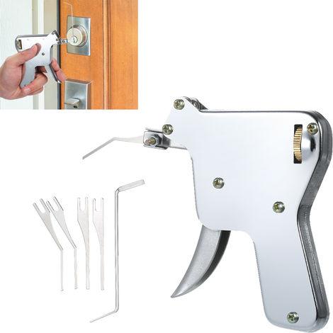 6 PCS Padlock-Reparatur-Werkzeug-Set Schlosser Werkzeug Turoffner Lockpicking Praxis Picking Werkzeuge mit starkem Sprung Kopf fur Anfanger Profis