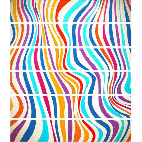 6 Pcs / Set 3D Paysage Auto-Adhesif Escaliers Risers Autocollants Mural Escalier Autocollants Papier Peint Decor