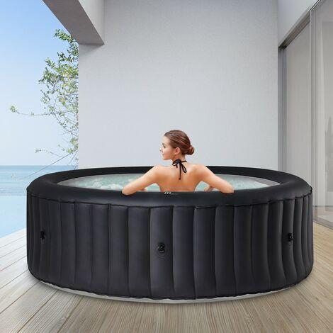 6 Personen Whirlpool aufblasbar MSPA Rimba Outdoor Garten Massage Pool rund 2021