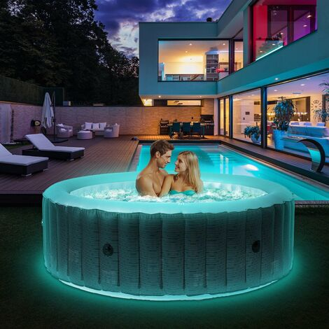 6 Personen Whirlpool aufblasbar MSPA STARRY Outdoor Garten Massage Pool LED 2021