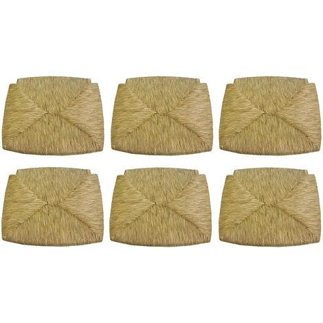 6 pezzi seduta sedile fondo pannello di ricambio impagliato per sedia legno paesana in paglia struttura in legno