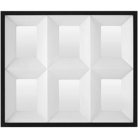 6 Picture Collage Photo Frame, 3D Box Design, Black