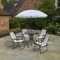 6 Piece Cream Garden Patio Furniture Set
