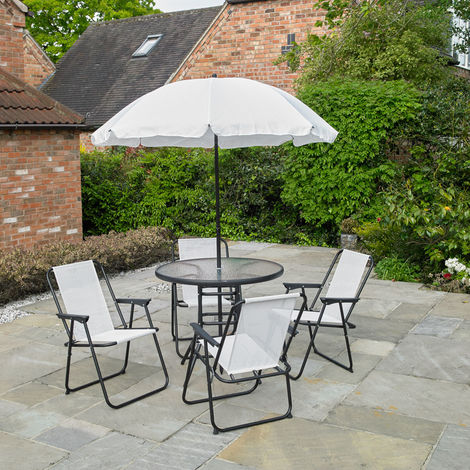 6 Piece Garden Patio Furniture Set - Cream