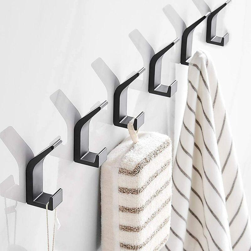6 piece self-adhesive hooks, towel hooks, hooks clothing, wall hooks adhesive stainless steel hooks