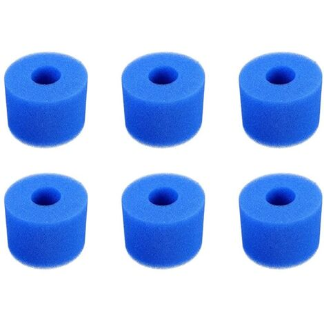 6 Pieces Filter Sponge Type S1, Foam Filter Cartridge, Pool Filter Foam, Reusable and Washable, Foam Filter for Spa, Pool, Jacuzzi