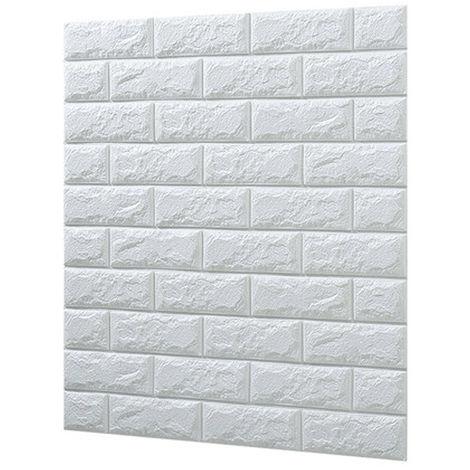 6 piezas autoadhesivas 3D bloques blancos pegatinas de pared
