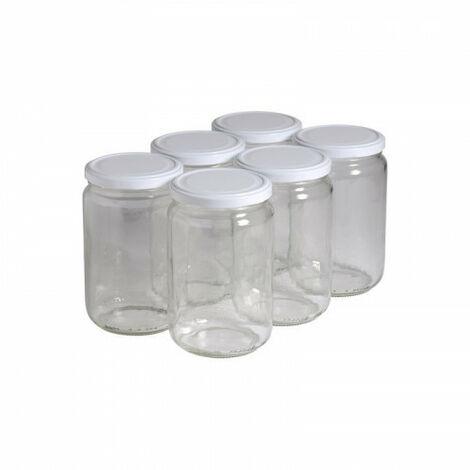 6 pots verre 1kg (750 ml) avec couvercle TO 82 - Plusieurs modèles disponibles