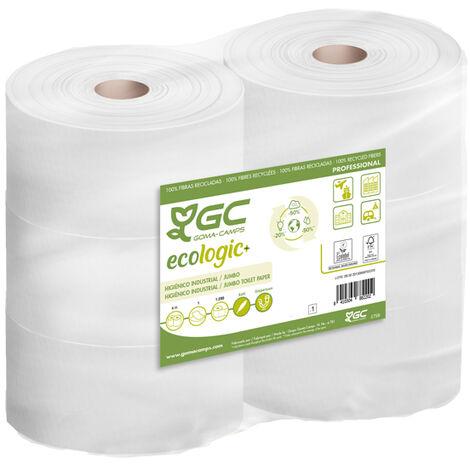 6 Rollos Papel Higienico 380m Industrial Reciclado