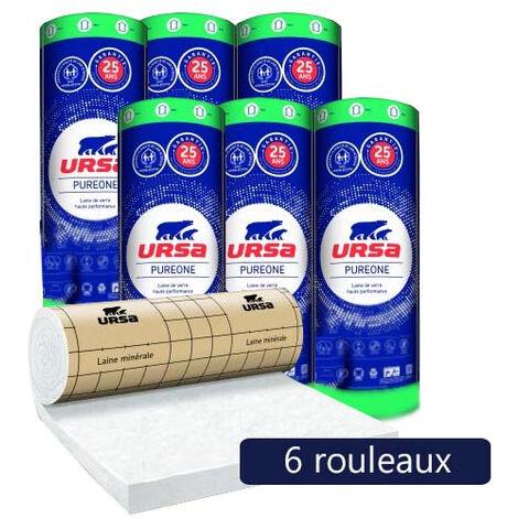 6 rouleaux laine de verre PureOne 32 QP revêtu kraft - Ep. 101mm - 38,88m² - R 3.15