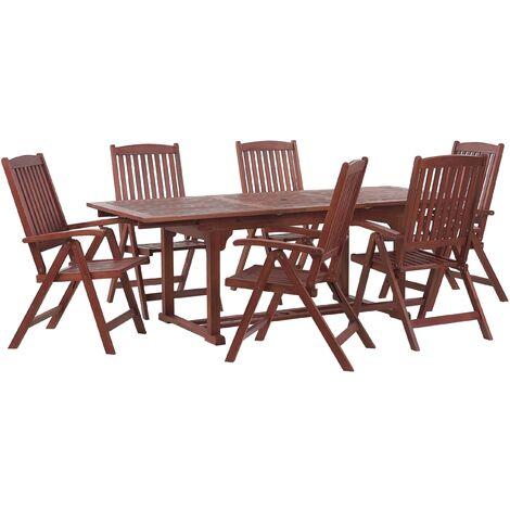 6 Seater Acacia Garden Dining Set TOSCANA