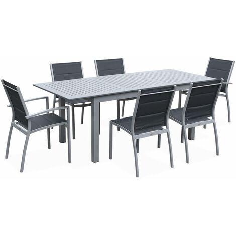 6-seater extending garden table set - Chicago