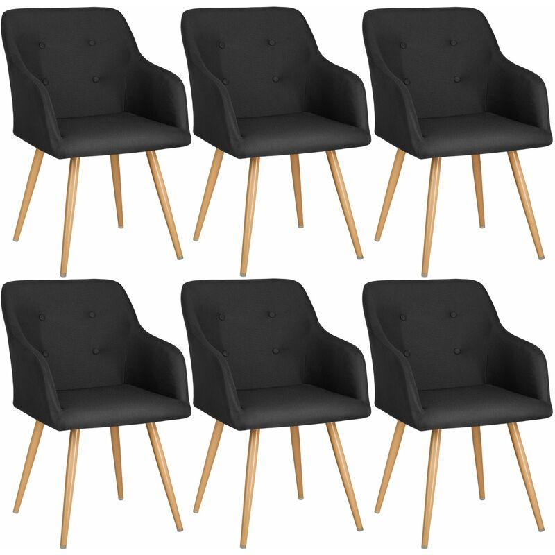 6 Sedia Tanja - sedie moderne, sedie economiche - nero ...