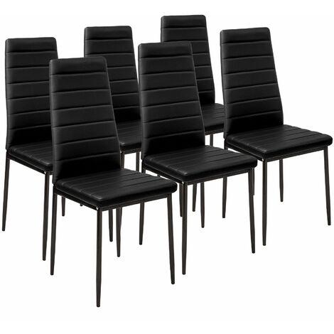 6 sedie da sala da pranzo in pelle sintetica - sedie moderne, sedie sala da pranzo, sedie da pranzo