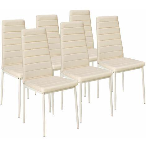 Sedia Sala Da Pranzo Pelle.6 Sedie Da Sala Da Pranzo In Pelle Sintetica Sedie Moderne