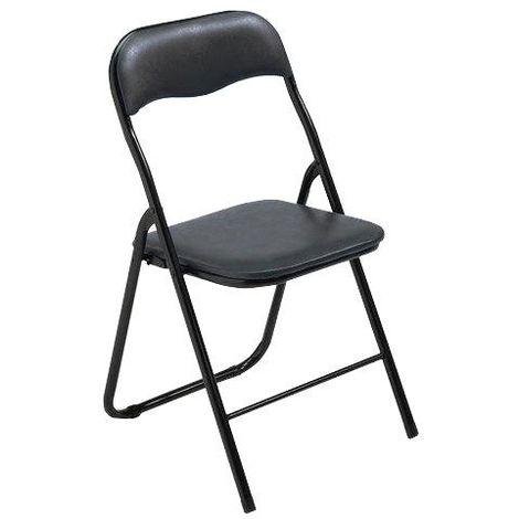 6 sedie pieghevoli imbottita nera struttura in metallo x casa e ...