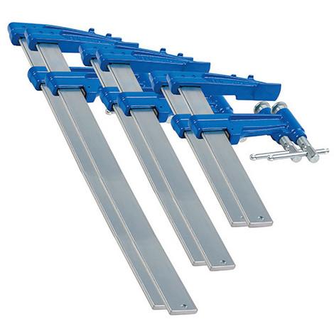 6 serre-joints à pompe 3-P (35 x 8) saillie de 120 mm - 2 x L. 60 cm, 2 x L. 80 cm, 2 x L. 100 cm - 8590006 - Urko - -