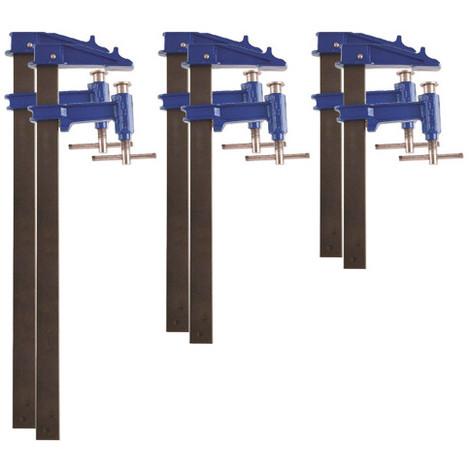 6 serre-joints à pompe 35 x 8 mm - 2 x L. 60 cm, 2 x L. 80 cm, 2 x L. 100 cm de type F - 99981 - Piher - -