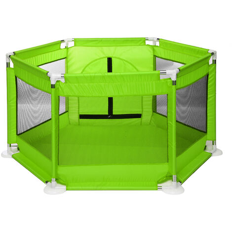 6 Side Children Baby Kids Playpen Room Divider Foldable