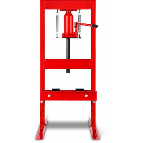 6 T Prensa hidráulica de taller (2 Placas Arbor, Altura de trabajo 300 mm 4 vías ajustables, Anchura de trabajo 330 mm)