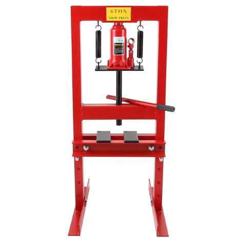 6 T Presse hydraulique datelier (300 mm Hauteur de travail, Réglable 4 niveaux, 330 mm Largeur de travail)