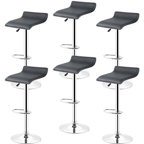 6* tabourets de bar chaise bistrot réglable pivotant siège Européen style noir