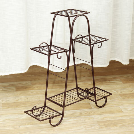 6 Tier Coffee Metal Plant Holder Display Stand)