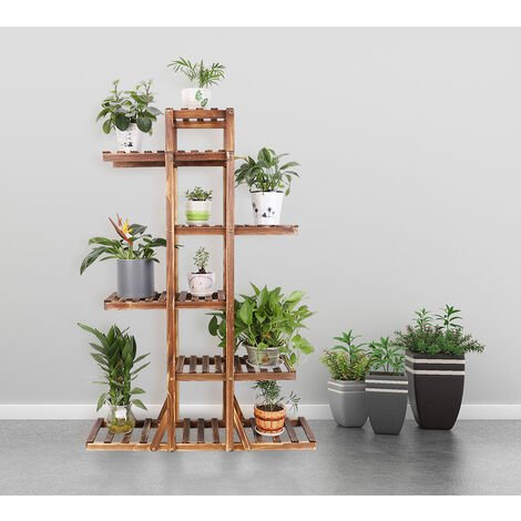 """main image of """"6 Tier Wooden Plant Stand Ladder Corner Garden Grow Terrace Florist Display Rack"""""""