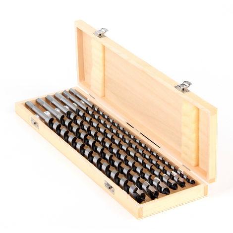 Schlangenbohrer-Satz 6-teilig 460 mm Ø 12-20 mm in Holz-Kassette